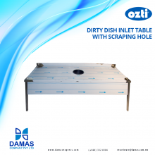 Ozti Dirty Dish Inlet Table with Scraping Hole