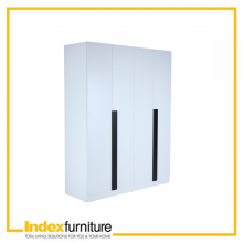 PIANO 4 DOOR WARDROBE - White
