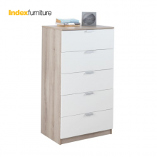 H-MAX CHEST OF 5 DRAWERS NT/WT-M