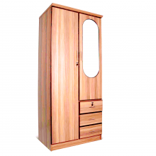 Two Door Wardrobe with Mirror