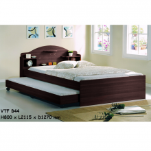 4ft Bed With 3ft Pullout Bed - Wenge