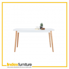 MAWIN/L DINING TABLE - WHITE/NATURAL