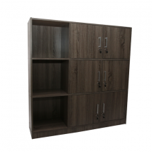 BOOK CASE BS-6616/6L SO WITH 6 DOOR&LOCK SONOMA OAK