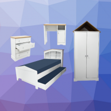 Bedroom Set Alexandra 3ft Bed with Pull Out Bed