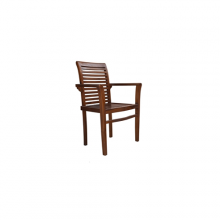 Teak Wooden Dining Chair with Arms