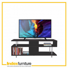 FOX TV STAND (MELAMINE) 120 CM. - BLACK