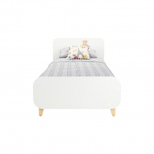 MATHY BED 3 FT - WHITE