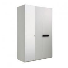 LEXIS 3 DOOR WARDROBE 135 CM - WHITE
