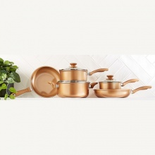 5 Piece Copper Look Cookware Set