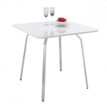 NERO DINING TABLE HG 75 CM. - WHITE