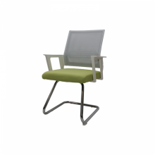 VISITOR CHAIR MESH 689-1 L/GREEN WITH WHITE ARM