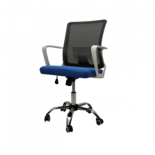 OFFICE CHAIR MESH 010-W BLUE WITH WHITE ARM