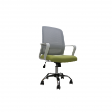 OFFICE CHAIR MESH 203-W L/GREEN WITH WHITE ARM