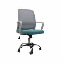 OFFICE CHAIR MESH 203-W D/ GREEN WITH WHITE ARM