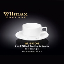 Wilmax Tea Cup and Saucer