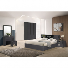 Bedroom Set (Queen Size) Cool Grey