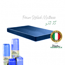 ROLLED FOAM MATTRESS SPUNBOND FABRIC (152 x190 x 14cm) 5x6.3 ft (6inch height) - Made in Italy
