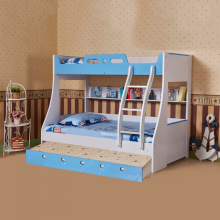 BUNK BED WITH TRUNDLE BED (90*190CM) BLUE
