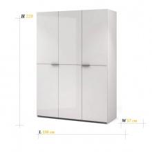 BLANC 3 DOORS WARDROBE 150CM - WHITE