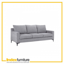 Vivean 3/S Fabric Sofa -  Grey
