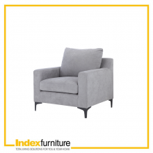 Vivean 1/S Fabric Sofa -  Grey