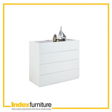 BLANC 4 drawer 90 cm - White