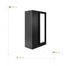 BASIO WARDROBE SLIDING DOOR BKBN 120X60X200 CM