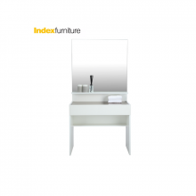 BLANC Dressing table with Mirror - White 3 x 5.7ft