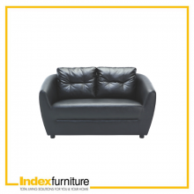 H-MAX PVC 2 Seater Sofa - Black