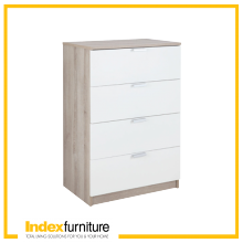 H-MAX Chest of 4 Drawers - Natural / White