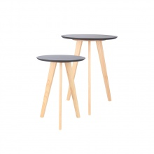 TURI ( S+L ) SIDE TABLE TOP BK/NT