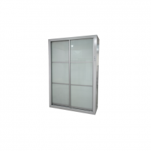 Wardrobe with 2 Sliding Door - White