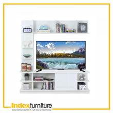 H-MUCH TV Cabinet + Hutch 160cm - White