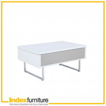 PLAY MINI HI-GLOSS Coffee Table 80cm - WT/SS