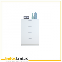 H-MAX Chest of 4 Drawers - White