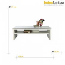 Cruze Coffee Table - White