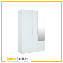 Mazzimo Wardrobe 3 Doors - White