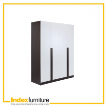 PIANO Wood wardrobe 4 dr. BKBN/WT