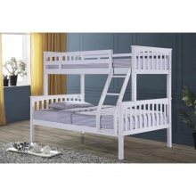 Allium Wooden Twin Full Bunk Bed - White