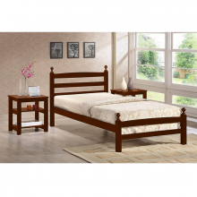 Wooden Single Bed - Oak
