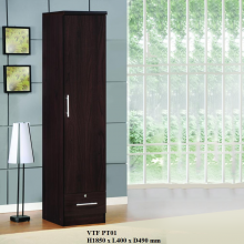 1 Door Wardrobe With Mirror - Wenge