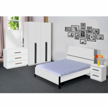 Bedroom Set with Queen Size Bed - White