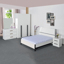 Bedroom Set with 4ft Bed - White