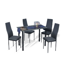1+4 Seater Dining Set - Grey