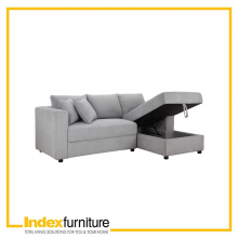 Jim Fabric Function Sofa L-Shape - Light Grey
