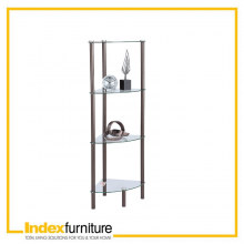 Ronto Corner Glass Shelf - Brown