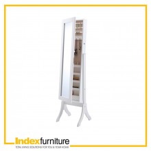 BIJOUX/L Jewelry Cabinet With Mirror - White