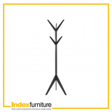 ALDER CLOTH HANGER SOLID WOOD - BLACK