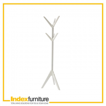 ALDER CLOTH HANGER SOLID WOOD - WHITE