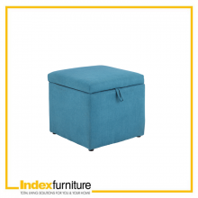 BERIN FABRIC STOOL - BLUE